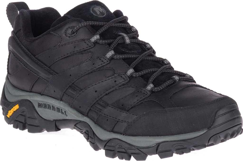 Men's Merrell Moab 2 Prime Hiking Shoe, Black Full Grain Leather, large, image 1