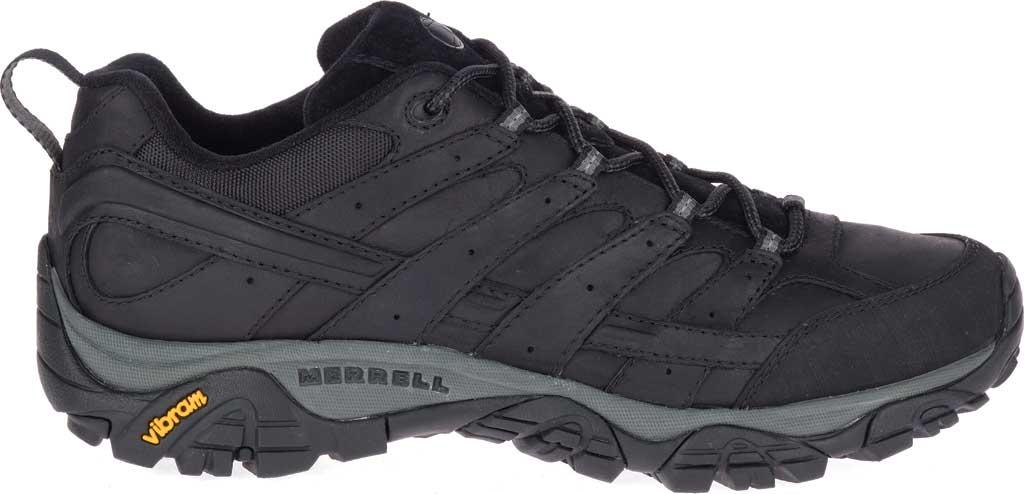 Men's Merrell Moab 2 Prime Hiking Shoe, Black Full Grain Leather, large, image 2