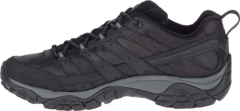 Men's Merrell Moab 2 Prime Hiking Shoe, Black Full Grain Leather, large, image 3