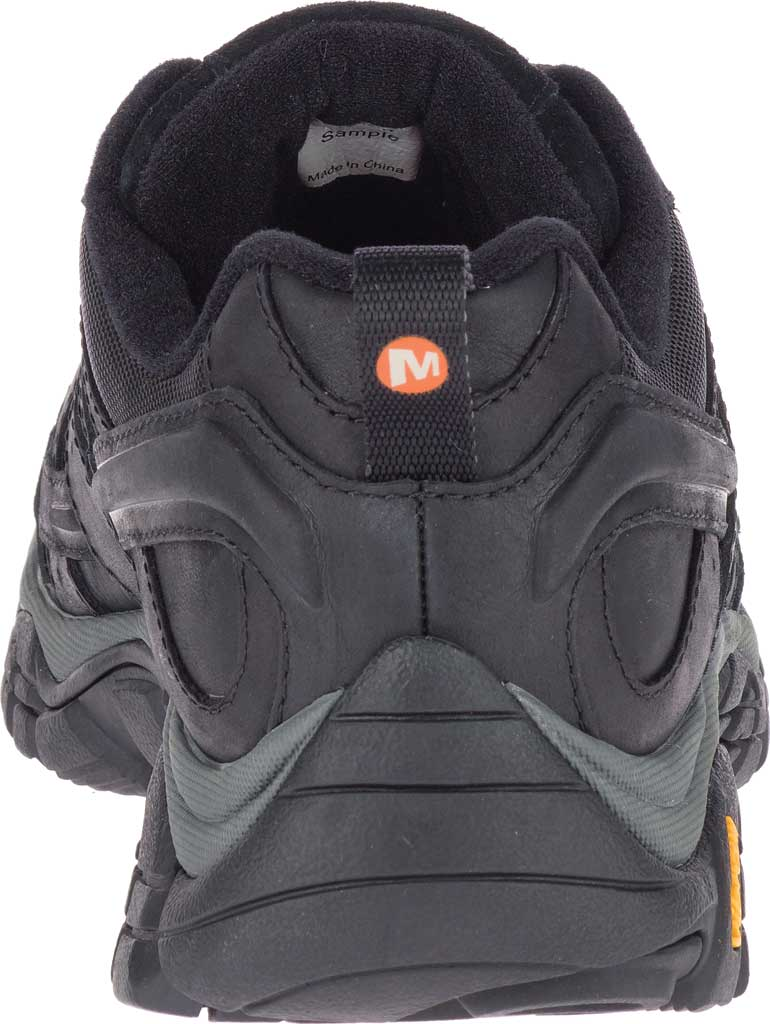 Men's Merrell Moab 2 Prime Hiking Shoe, Black Full Grain Leather, large, image 4