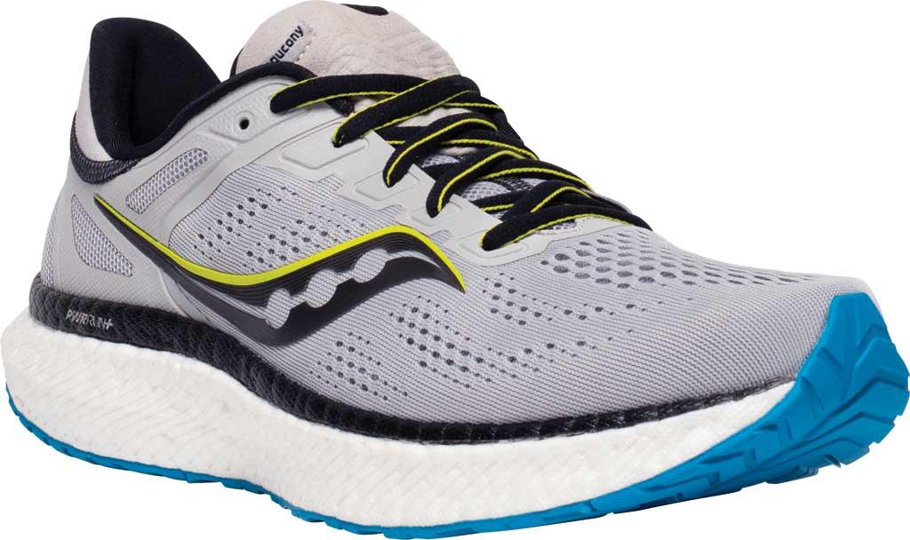 Men's Saucony Hurricane 23 Running Sneaker, Fog/Cobalt, large, image 1