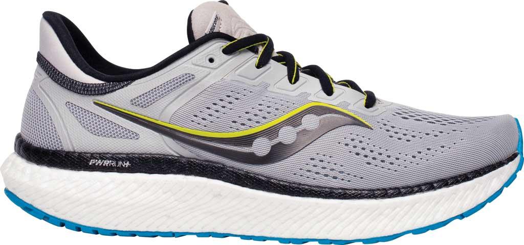 Men's Saucony Hurricane 23 Running Sneaker, Fog/Cobalt, large, image 2