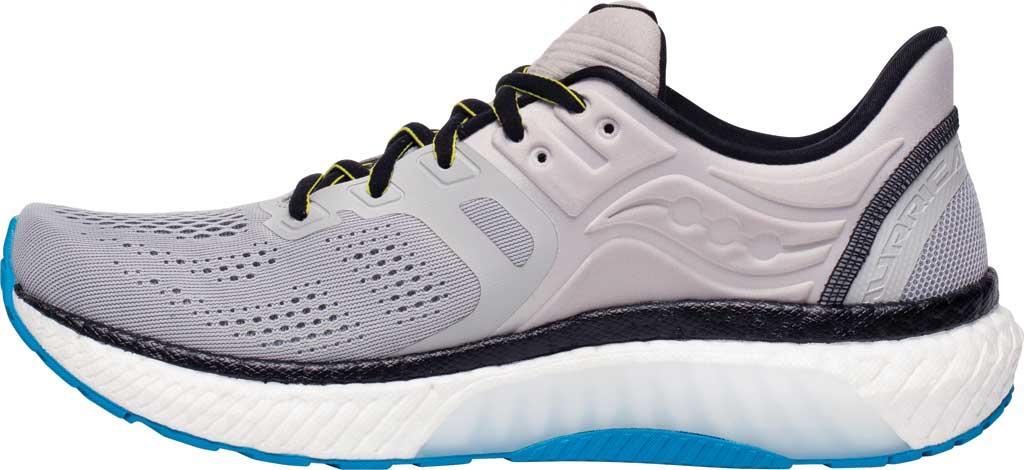 Men's Saucony Hurricane 23 Running Sneaker, Fog/Cobalt, large, image 3