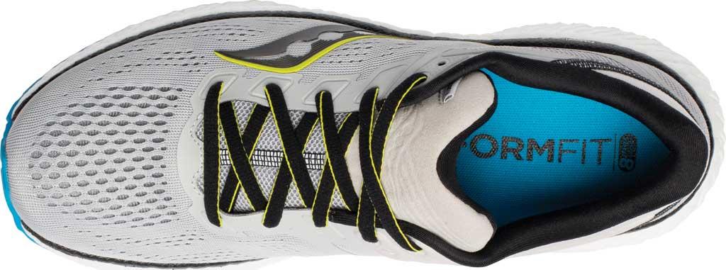 Men's Saucony Hurricane 23 Running Sneaker, Fog/Cobalt, large, image 4