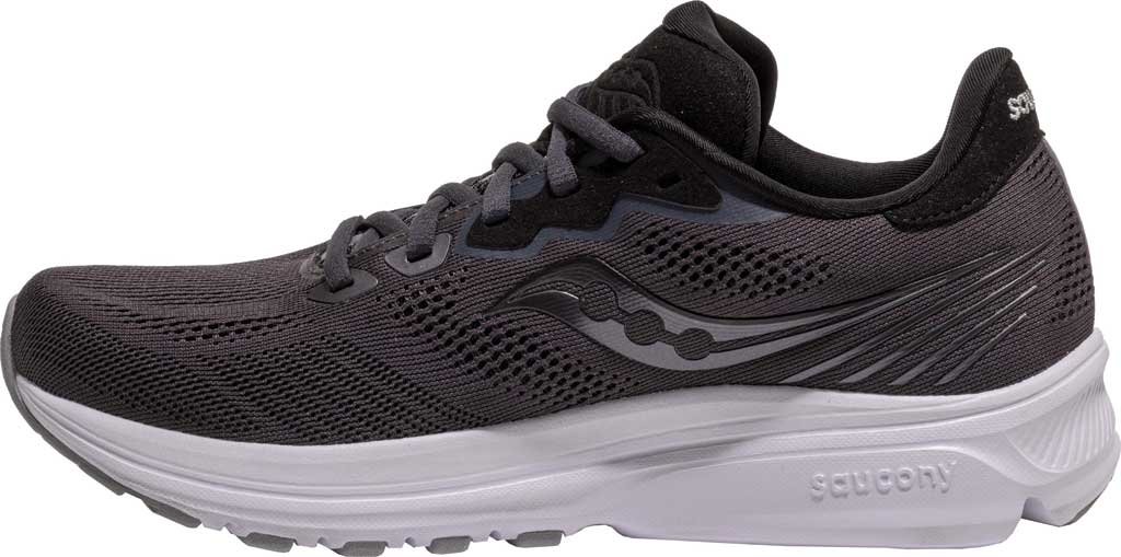 Women's Saucony Ride 14 Running Sneaker, Charcoal/Black, large, image 3