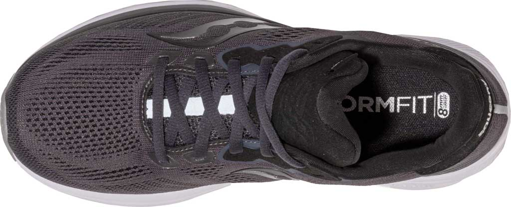 Women's Saucony Ride 14 Running Sneaker, Charcoal/Black, large, image 4