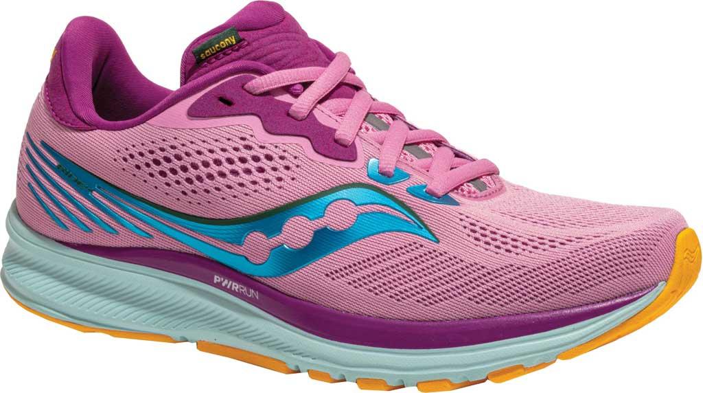Women's Saucony Ride 14 Running Sneaker, Future Pink, large, image 1