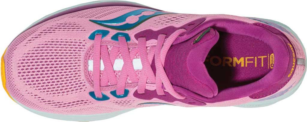 Women's Saucony Ride 14 Running Sneaker, Future Pink, large, image 4