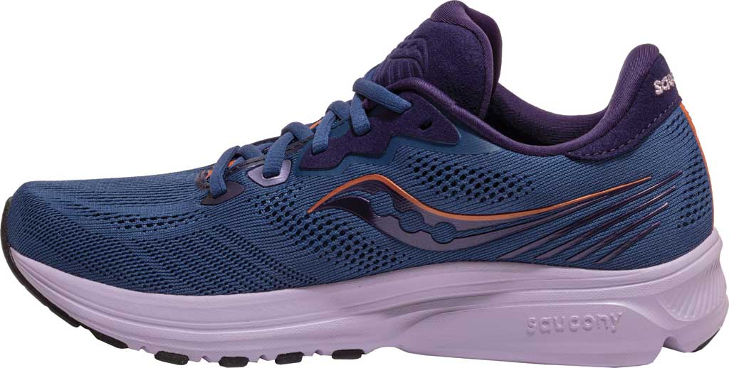 Women's Saucony Ride 14 Running Sneaker, Midnight/Copper, large, image 3