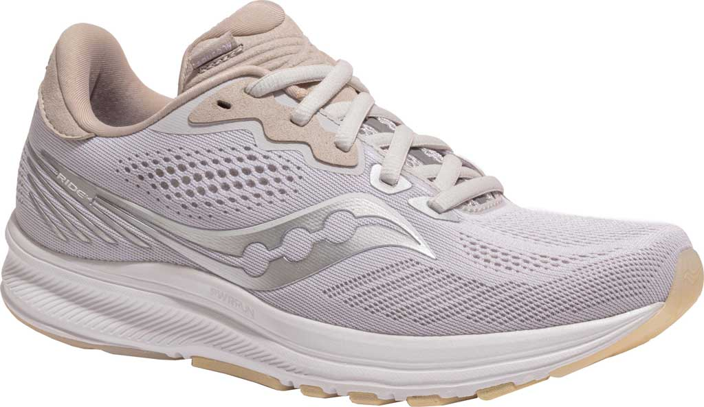 Women's Saucony Ride 14 Running Sneaker, New Natural, large, image 1