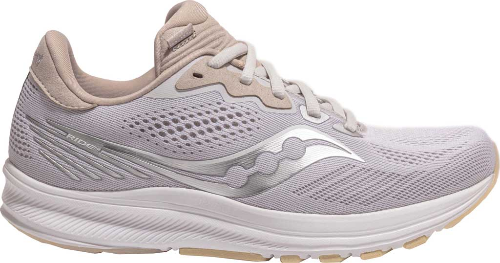 Women's Saucony Ride 14 Running Sneaker, New Natural, large, image 2