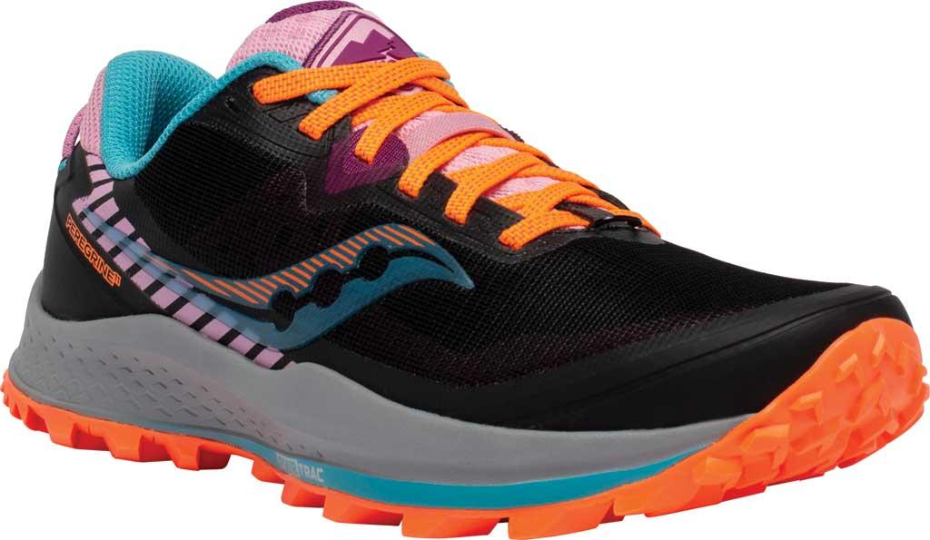 Women's Saucony Peregrine 11 Running Sneaker, Future Black, large, image 1