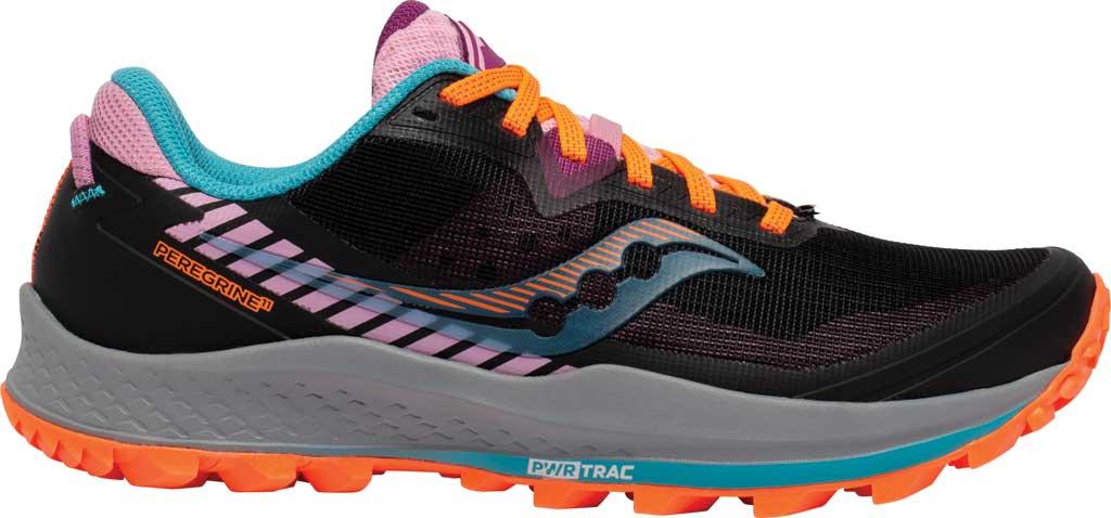 Women's Saucony Peregrine 11 Running Sneaker, Future Black, large, image 2
