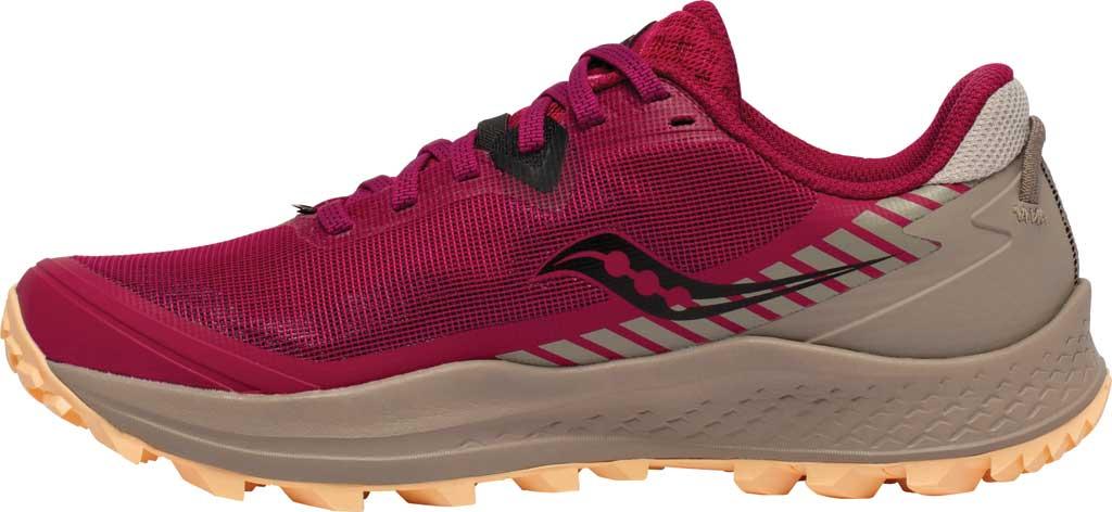 Women's Saucony Peregrine 11 Running Sneaker, Cherry/Gravel, large, image 3