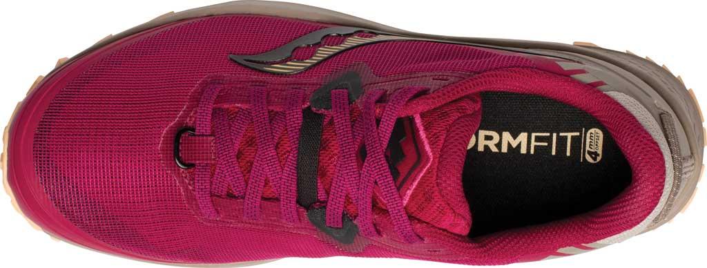 Women's Saucony Peregrine 11 Running Sneaker, Cherry/Gravel, large, image 4