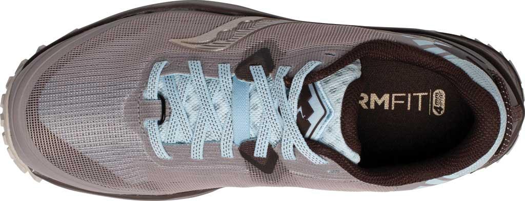Women's Saucony Peregrine 11 Running Sneaker, Zinc/Sky/Loom, large, image 4