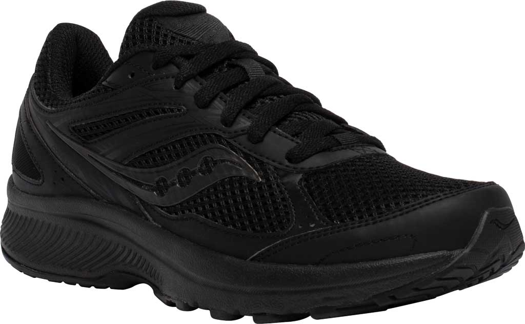 Women's Saucony Cohesion 14 Running Sneaker, Black/Black, large, image 1