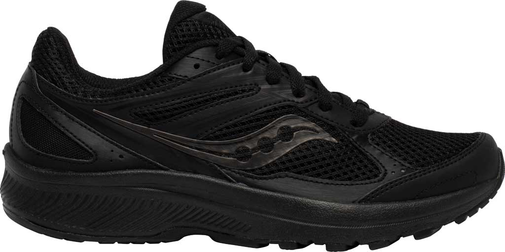 Women's Saucony Cohesion 14 Running Sneaker, Black/Black, large, image 2