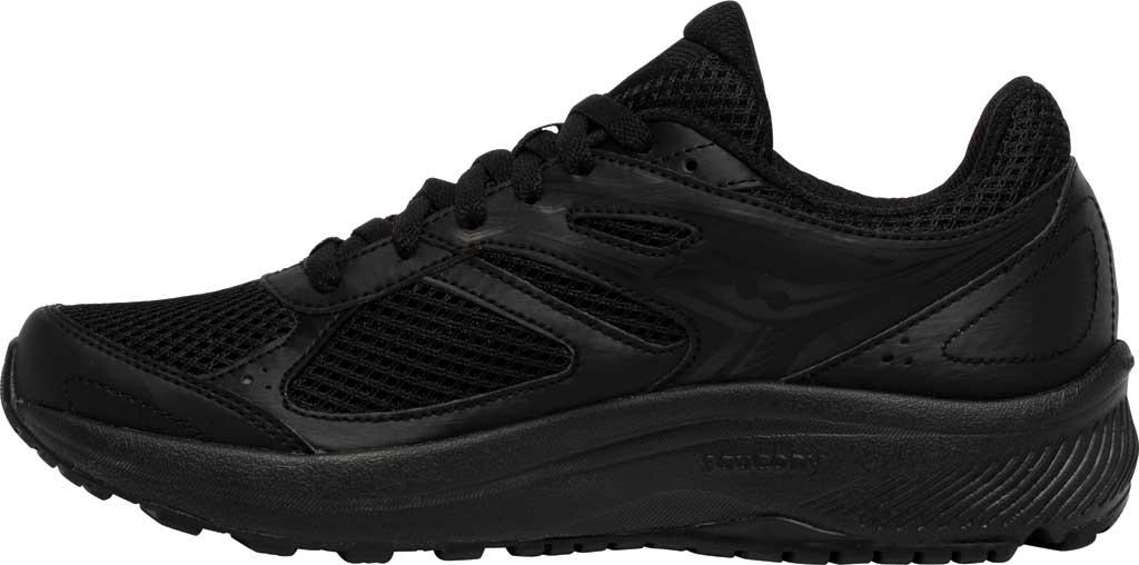 Women's Saucony Cohesion 14 Running Sneaker, Black/Black, large, image 3