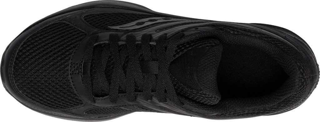 Women's Saucony Cohesion 14 Running Sneaker, Black/Black, large, image 4