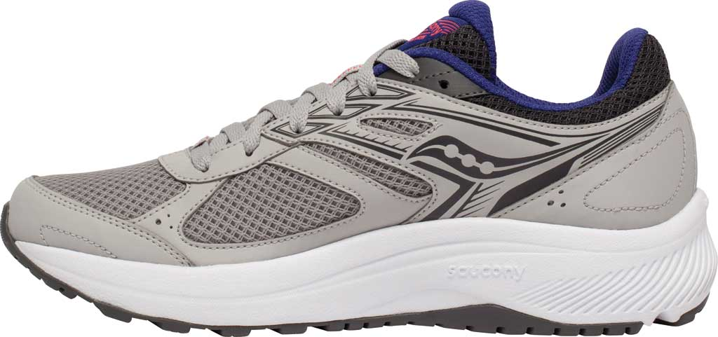 Women's Saucony Cohesion 14 Running Sneaker, Grey/Purple, large, image 3
