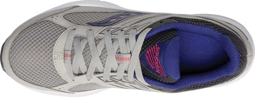 Women's Saucony Cohesion 14 Running Sneaker, Grey/Purple, large, image 4
