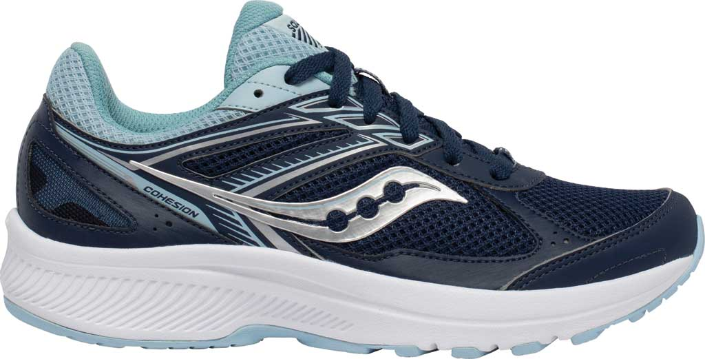 Women's Saucony Cohesion 14 Running Sneaker, Navy/Sky, large, image 2