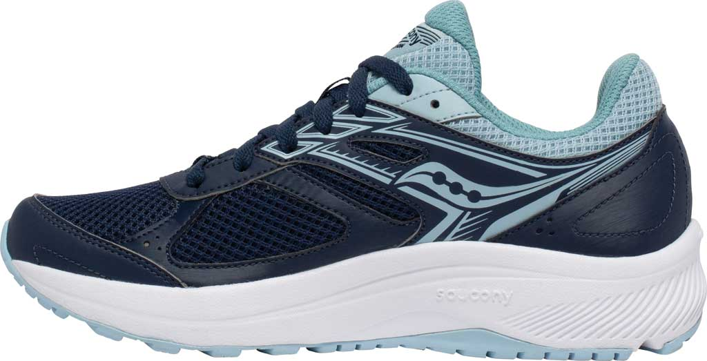 Women's Saucony Cohesion 14 Running Sneaker, Navy/Sky, large, image 3
