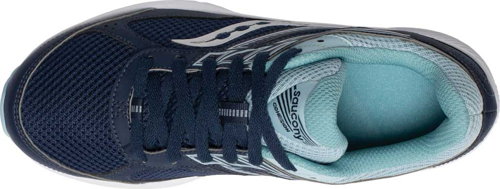 Women's Saucony Cohesion 14 Running Sneaker, Navy/Sky, large, image 4