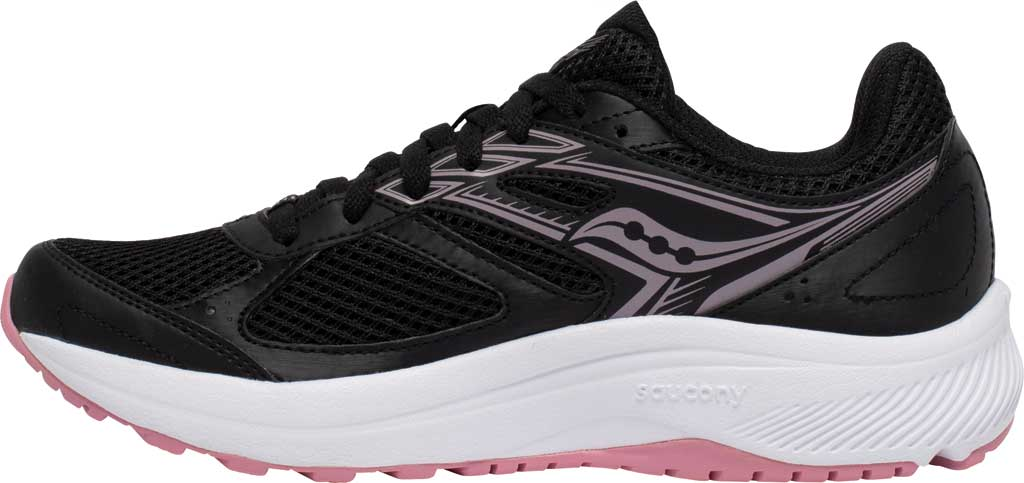 Women's Saucony Cohesion 14 Running Sneaker, Black/Pink, large, image 3