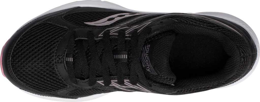 Women's Saucony Cohesion 14 Running Sneaker, Black/Pink, large, image 4