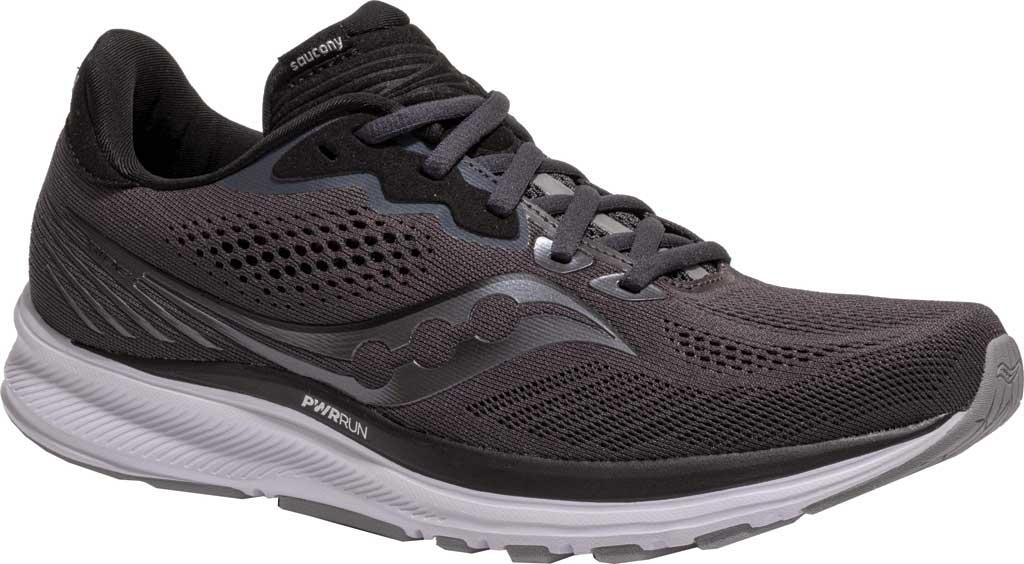Men's Saucony Ride 14 Running Sneaker, Charcoal/Black, large, image 1