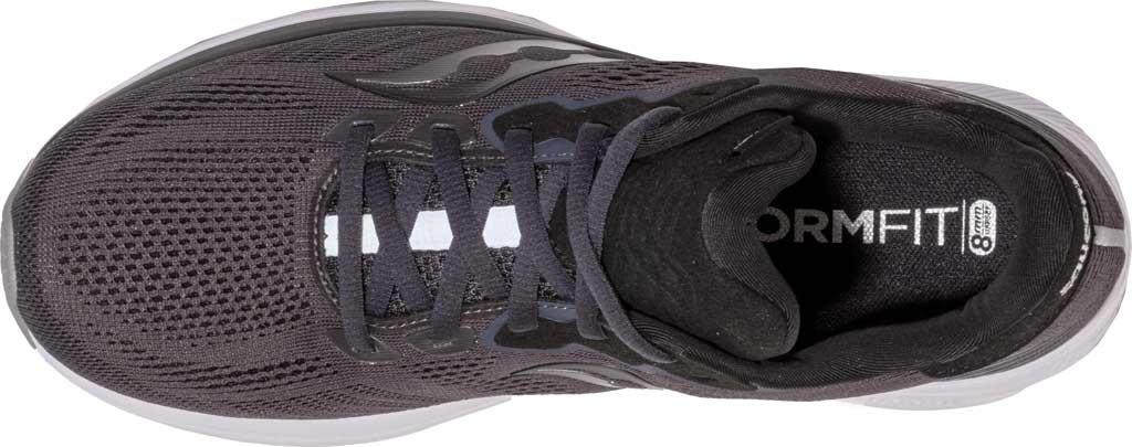 Men's Saucony Ride 14 Running Sneaker, Charcoal/Black, large, image 4