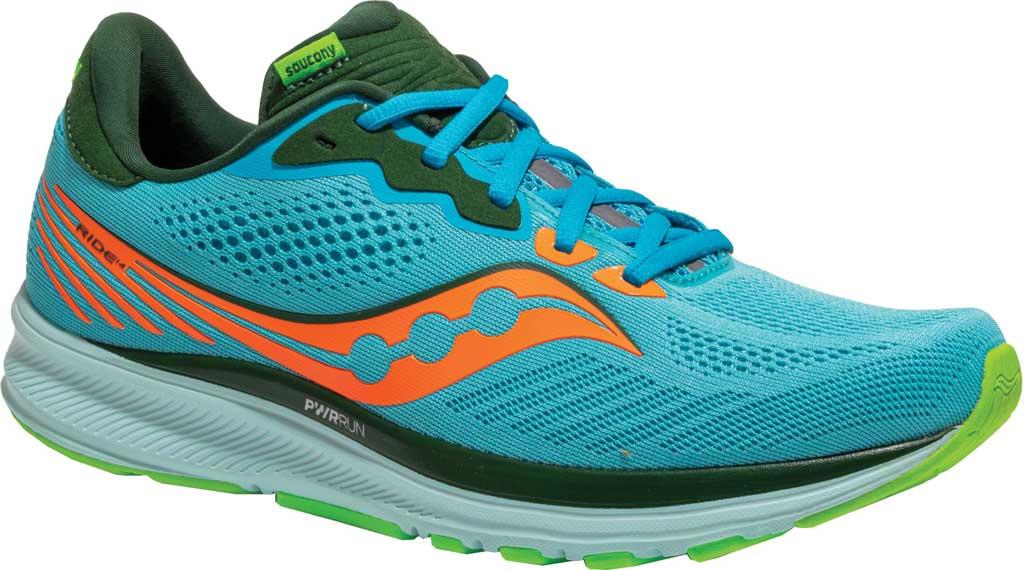 Men's Saucony Ride 14 Running Sneaker, Future Blue, large, image 1