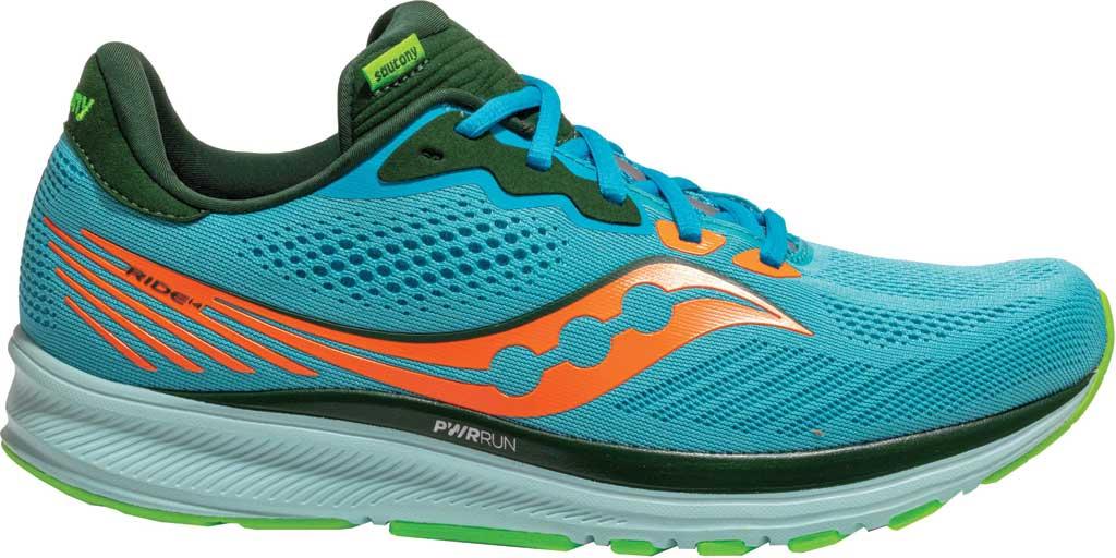 Men's Saucony Ride 14 Running Sneaker, Future Blue, large, image 2