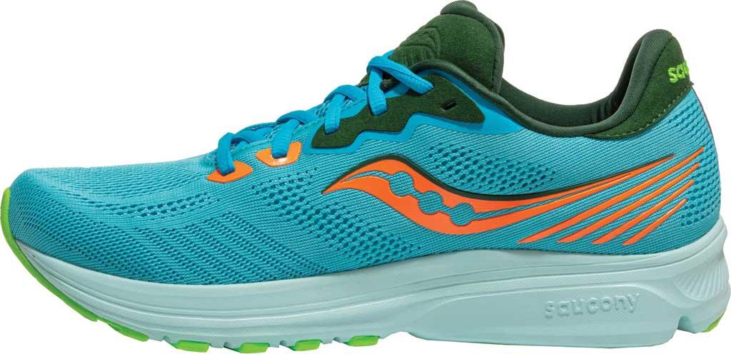 Men's Saucony Ride 14 Running Sneaker, Future Blue, large, image 3
