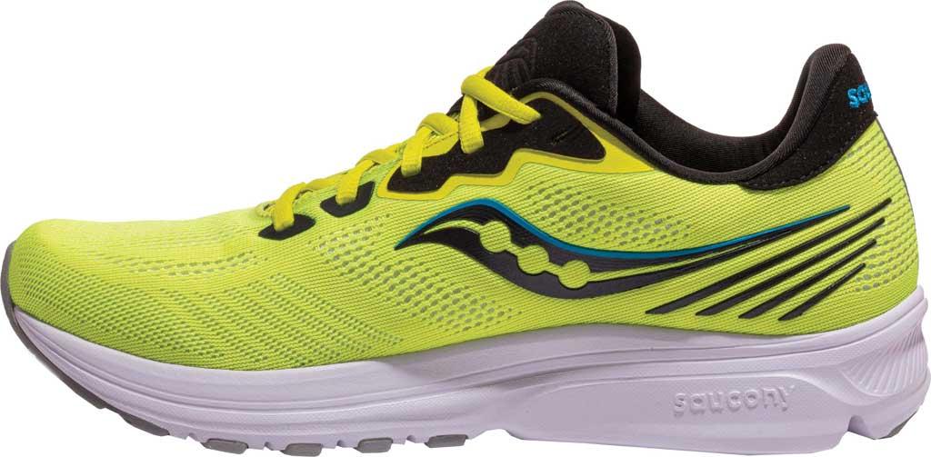 Men's Saucony Ride 14 Running Sneaker, Citrus/Black, large, image 3