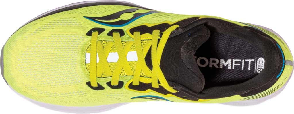 Men's Saucony Ride 14 Running Sneaker, Citrus/Black, large, image 4