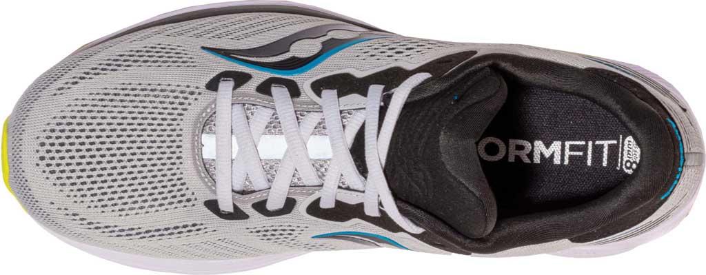 Men's Saucony Ride 14 Running Sneaker, Fog/Black/Storm, large, image 4
