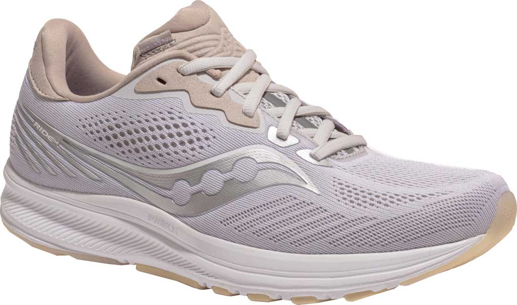 Men's Saucony Ride 14 Running Sneaker, New Natural, large, image 1