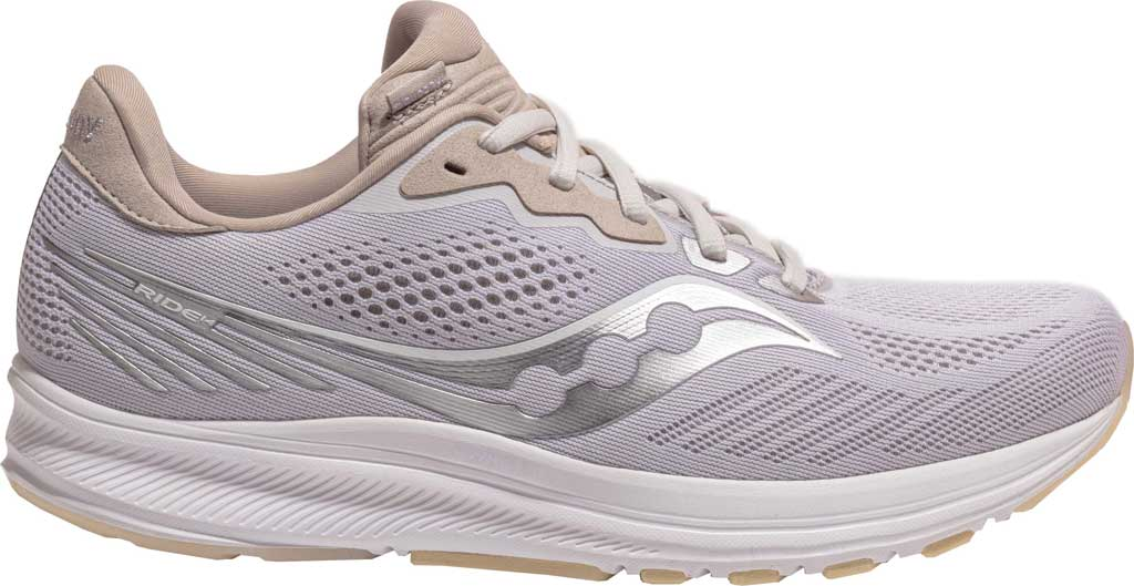 Men's Saucony Ride 14 Running Sneaker, New Natural, large, image 2