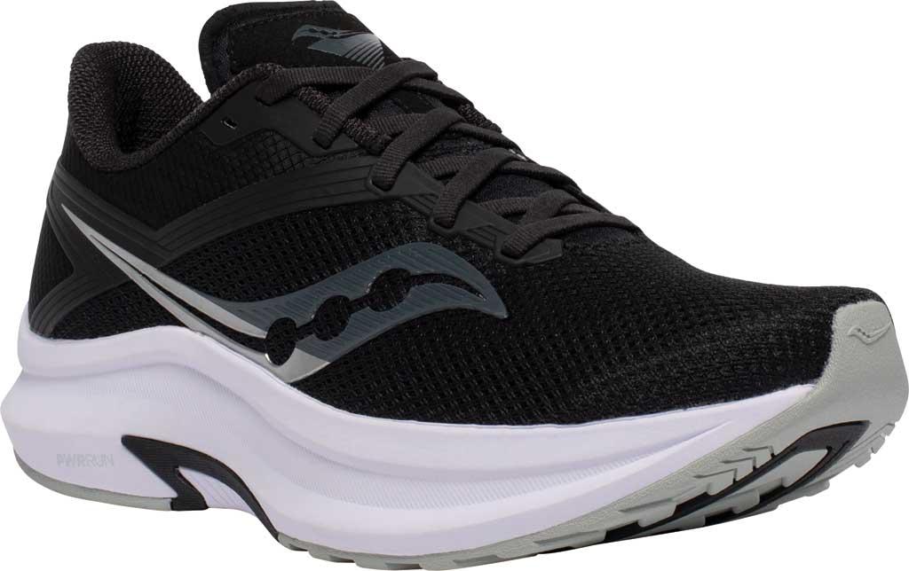 Men's Saucony Axon Running Sneaker, Black/White, large, image 1