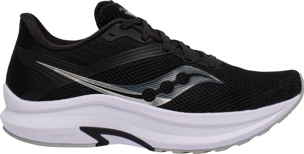 Men's Saucony Axon Running Sneaker, Black/White, large, image 2