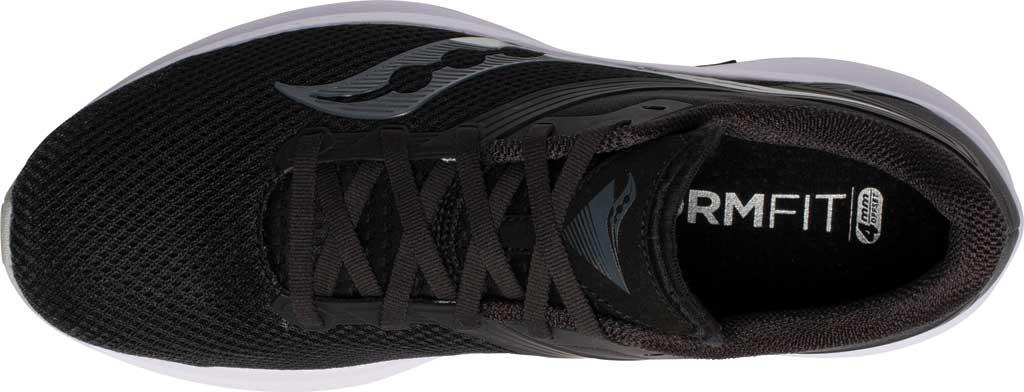 Men's Saucony Axon Running Sneaker, Black/White, large, image 4