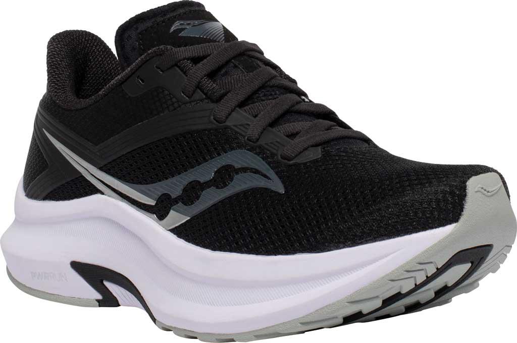 Women's Saucony Axon Running Sneaker, Black/White, large, image 1