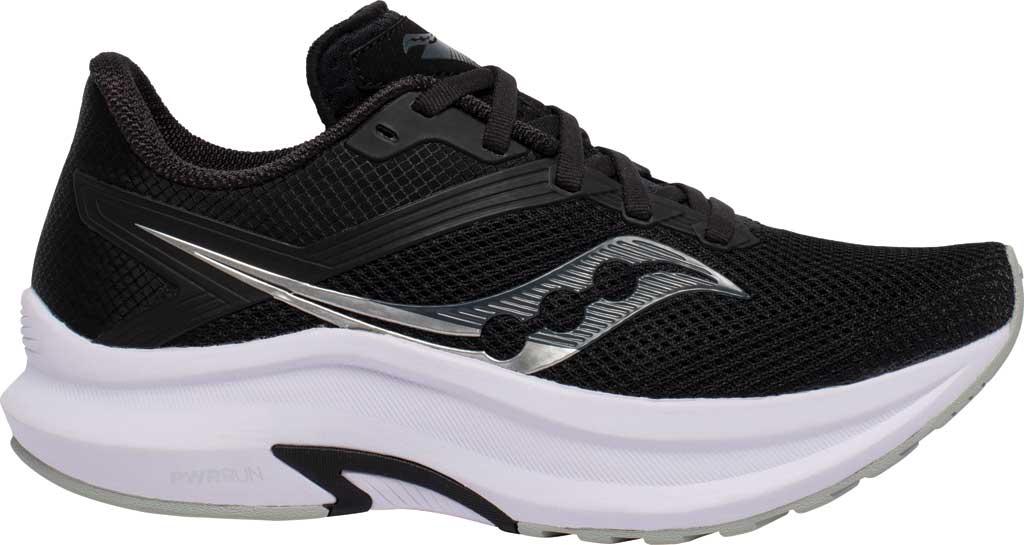 Women's Saucony Axon Running Sneaker, Black/White, large, image 2