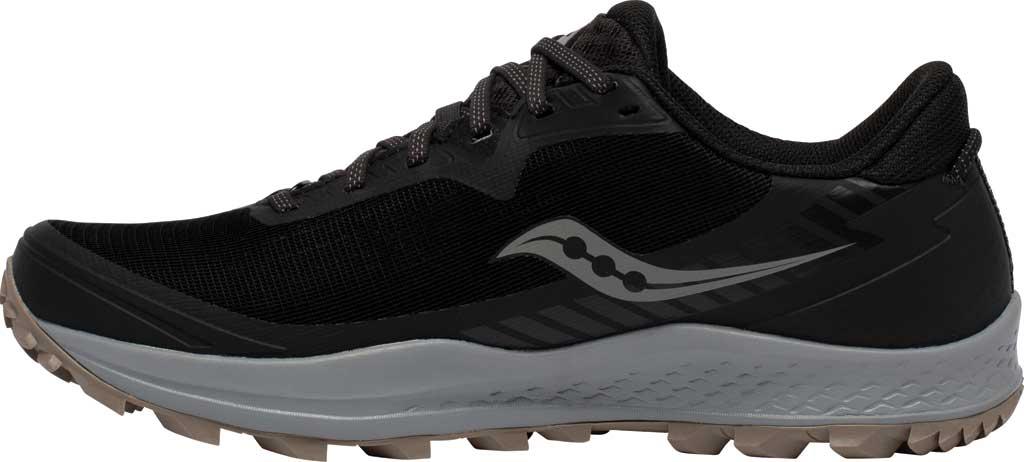 Men's Saucony Peregrine 11 GORE-TEX Running Sneaker, Black/Gravel, large, image 3