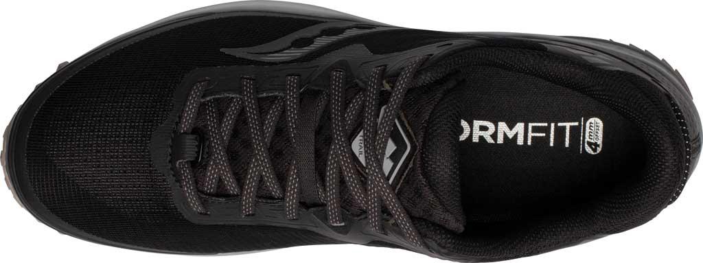 Men's Saucony Peregrine 11 GORE-TEX Running Sneaker, Black/Gravel, large, image 4