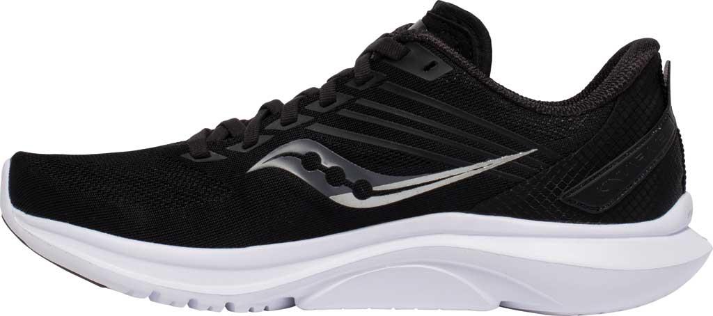 Women's Saucony Kinvara 12 Running Sneaker, Black/Silver, large, image 3