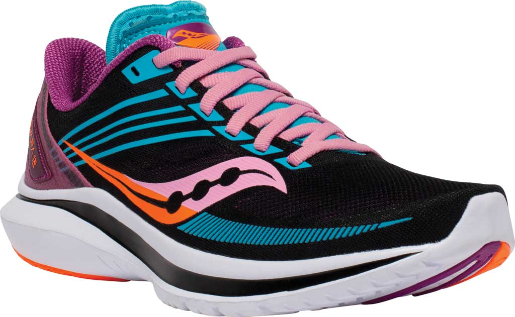 Women's Saucony Kinvara 12 Running Sneaker, Future/Black, large, image 1